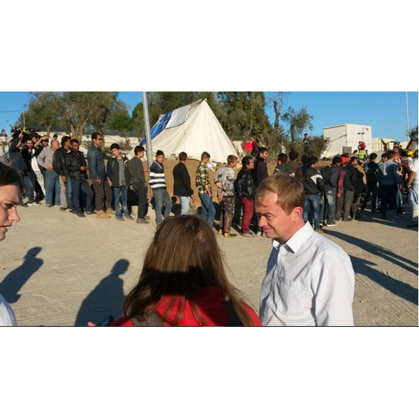 Tim Farron in Lesvos