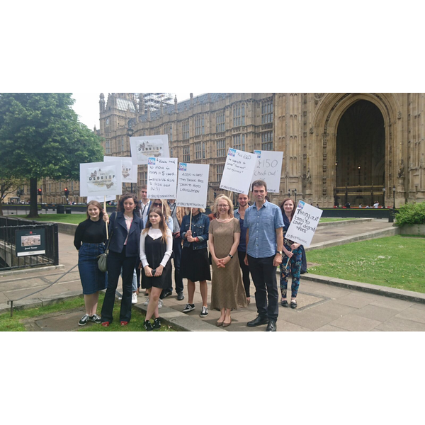 Olly Grender, Tom Brake and Letting Fee Rent campaigners