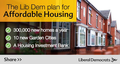 The Lib Dem Plan for Affordable Housing graphic